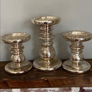 BBW Mercury glass pedestals